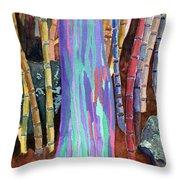 Rainbow Tree Throw Pillow