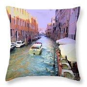 Rainbow Venice Throw Pillow
