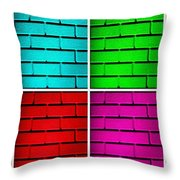 Rainbow Walls Throw Pillow