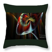 Rainbow Waterfall Throw Pillow by Peter R Nicholls