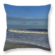 Rainbow Wave Seaside New Jersey Throw Pillow