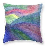 Rainbow Way Throw Pillow