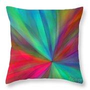 Rainbow Wheel Throw Pillow by ME Kozdron