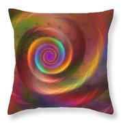 Rainbow Whispers Throw Pillow