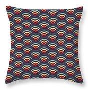 Rainbowaves Pattern Dark Throw Pillow