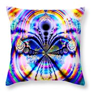 Rainbows And Dragonflies Throw Pillow