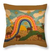 Rainbows Never End Throw Pillow
