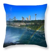 Rainbows Over Niagara Throw Pillow