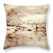 Raindrop Falling On The Street Throw Pillow