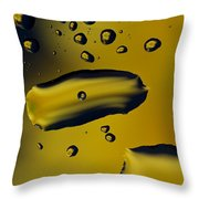 Raindrops And Flowers 16 Throw Pillow