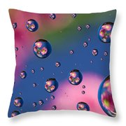 Raindrops And Flowers 7 Throw Pillow
