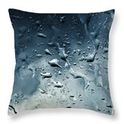 Raindrops Throw Pillow
