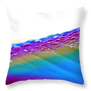 Raindrops On My Umbrella Throw Pillow