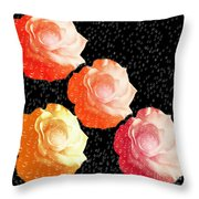 Raindrops On Roses - My Favorite Things Throw Pillow