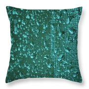 Raindrops On Window Iv Throw Pillow