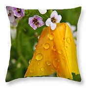 Rained Upon Throw Pillow