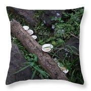 Rainforest Vegetation Moss And Fungi Throw Pillow