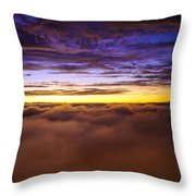 Rainier Above The Clouds Throw Pillow