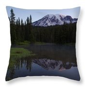 Rainier Awakening Throw Pillow