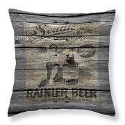 Rainier Beer Throw Pillow