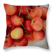 Rainier Cherries Throw Pillow