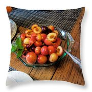 Rainier Cherries - Yummy Throw Pillow