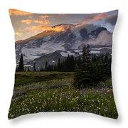 Rainier Meadows Splendor Throw Pillow