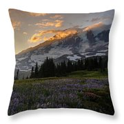Rainier Purple Lupine Carpet Throw Pillow