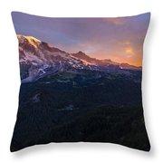 Rainier Soaring Skies Throw Pillow