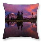 Rainier Soaring Sunrise Reflection Throw Pillow