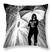 Raining Ring Of Fire Throw Pillow