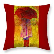 Raining Sunshine Throw Pillow