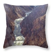 Rainstorm Over Grand Canyon Of The Yellowstone Throw Pillow