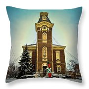 Raintree County Courthouse Throw Pillow
