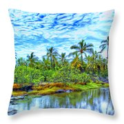 Rainy Afternoon In Kona Throw Pillow