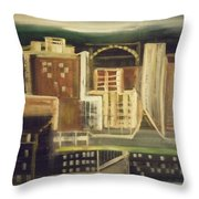 Rainy City Evening Throw Pillow
