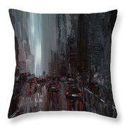 Rainy City. Part II Throw Pillow
