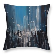 Rainy City Throw Pillow