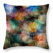 Rainy Day Christmas Throw Pillow