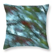 Rainy Day In Blue Throw Pillow