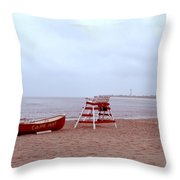 Rainy Day In Cape May Throw Pillow