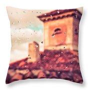 Rainy Day In Italy Throw Pillow