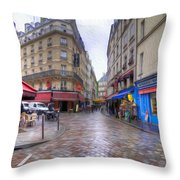 Rainy Day In Paris Throw Pillow