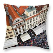 Rainy Day In Prague-2 Throw Pillow