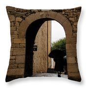 Rainy Day In Provence France Throw Pillow