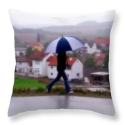 Rainy Day In Sembach Throw Pillow