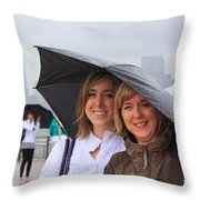 Rainy Day In The Big City Throw Pillow