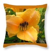 Rainy Day Lily Throw Pillow