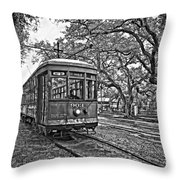 Rainy Day Ridin' Monochrome Throw Pillow by Steve Harrington