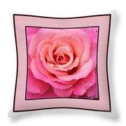 Rainy Day Rose Square Throw Pillow